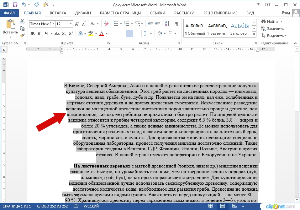 Как выровнять текст в Word 2013 пошаговая нитсрукция