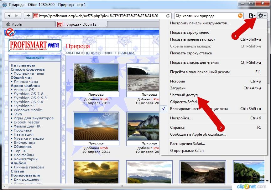 Как в Safari включить режим инкогнито инструкция