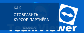 Как отобразить курсор партнёра в программе TeamViewer 9