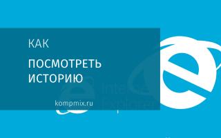 Как открыть историю в Internet Explorer